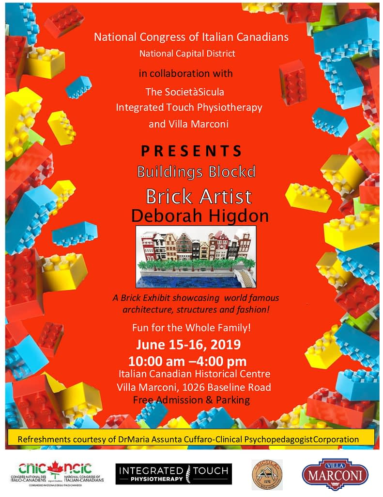 Poster for Lego event, Buildings Blockd