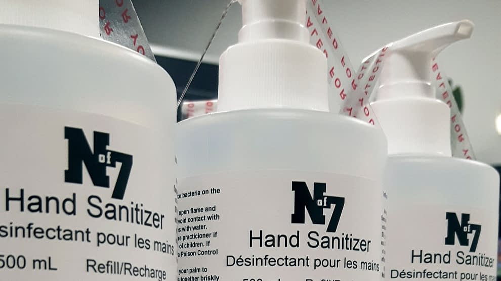 North of 7 hand sanitizer